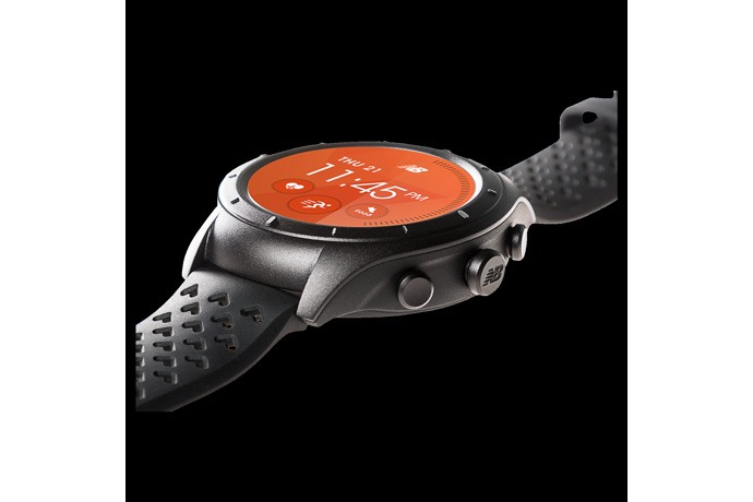 New Balance RunIQ with Intel Inside® is a smartwatch designed for runners with features including a heart rate monitor, accelerometer and gyroscope, and mechanical buttons that allow your laps to be tracked from start to finish, interval capability and marathon distance battery life.